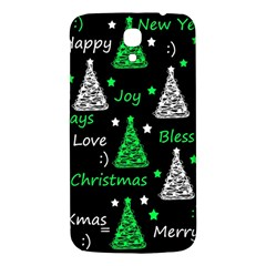 New Year Pattern   Green Samsung Galaxy Mega I9200 Hardshell Back Case by Valentinaart