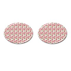 Gorgeous Pink Flower Pattern Cufflinks (oval) by Brittlevirginclothing