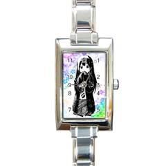 Shy Anime Girl Rectangle Italian Charm Watch by Brittlevirginclothing