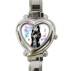 Shy Anime Girl Heart Italian Charm Watch by Brittlevirginclothing