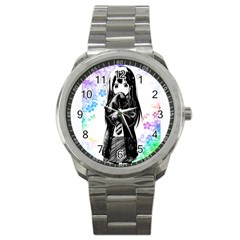 Shy Anime Girl Sport Metal Watch by Brittlevirginclothing