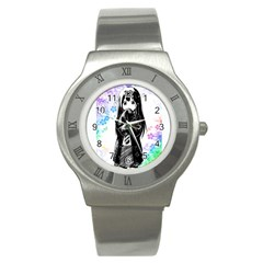 Shy Anime Girl Stainless Steel Watch by Brittlevirginclothing