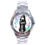 Shy Anime Girl Stainless Steel Analogue Watch Front