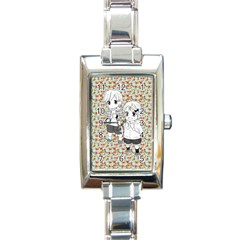 Cute Kids  Rectangle Italian Charm Watch by Brittlevirginclothing