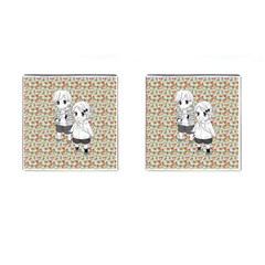 Cute Kids  Cufflinks (square) by Brittlevirginclothing