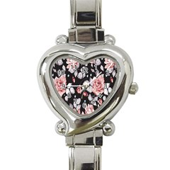 Vintage Flower  Heart Italian Charm Watch by Brittlevirginclothing