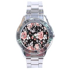 Vintage Flower  Stainless Steel Analogue Watch by Brittlevirginclothing