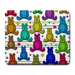 Teddy Bear Large Mousepads by Valentinaart