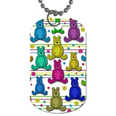 Teddy Bear Dog Tag (two Sides) by Valentinaart