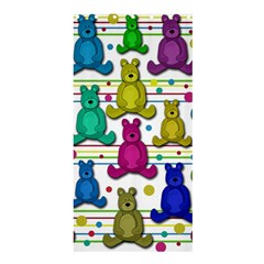 Teddy Bear Shower Curtain 36  X 72  (stall)  by Valentinaart