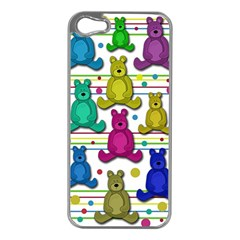 Teddy Bear Apple Iphone 5 Case (silver) by Valentinaart