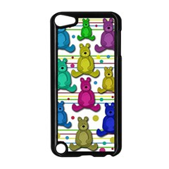 Teddy Bear Apple Ipod Touch 5 Case (black) by Valentinaart