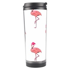 Flamingos Pink Santa Claus Tropical Coastal Christmas Travel Tumbler by CrypticFragmentsColors