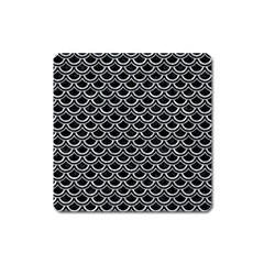 Scales2 Black Marble & Gray Marble Magnet (square) by trendistuff
