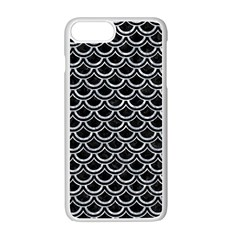 Scales2 Black Marble & Gray Marble Apple Iphone 7 Plus White Seamless Case