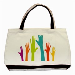 Hand Coloor Basic Tote Bag
