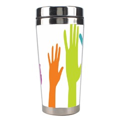 Hand Coloor Stainless Steel Travel Tumblers by AnjaniArt