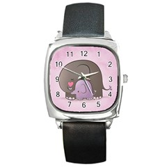 Cute Elephant Square Metal Watch