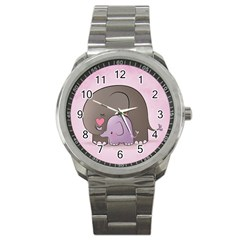Cute Elephant Sport Metal Watch by AnjaniArt