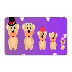 Happy Bears Cute Magnet (rectangular) by AnjaniArt