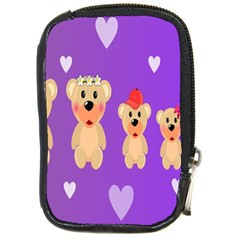 Happy Bears Cute Compact Camera Cases by AnjaniArt