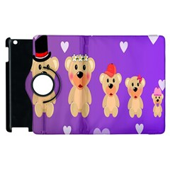 Happy Bears Cute Apple Ipad 3/4 Flip 360 Case by AnjaniArt