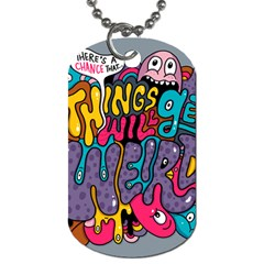 Face Weird Monster Dog Tag (one Side)