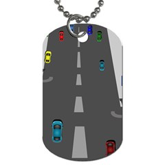 Highway Dog Tag (two Sides) by AnjaniArt