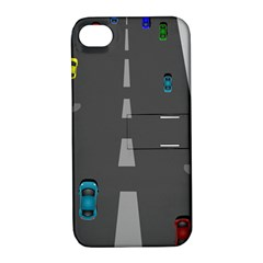 Highway Apple Iphone 4/4s Hardshell Case With Stand