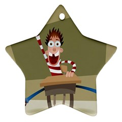 Hig School Star Ornament (two Sides)