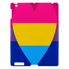 Panromantic Flags Love Apple Ipad 3/4 Hardshell Case by AnjaniArt