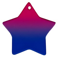 Pink Blue Purple Ornament (star)  by AnjaniArt