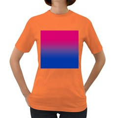 Pink Blue Purple Women s Dark T Shirt
