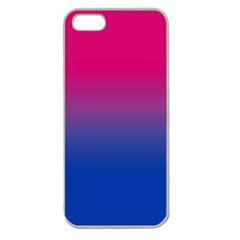 Pink Blue Purple Apple Seamless Iphone 5 Case (clear) by AnjaniArt