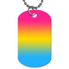 Pink Orange Green Blue Dog Tag (two Sides) by AnjaniArt