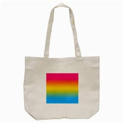 Pink Orange Green Blue Tote Bag (cream) by AnjaniArt
