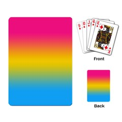 Pink Orange Green Blue Playing Card by AnjaniArt