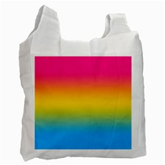Pink Orange Green Blue Recycle Bag (one Side) by AnjaniArt