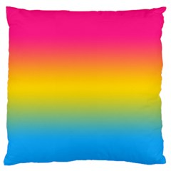 Pink Orange Green Blue Standard Flano Cushion Case (two Sides) by AnjaniArt