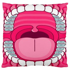 Original Big Mouth Large Flano Cushion Case (one Side)