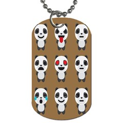 Panda Emoticon Dog Tag (two Sides) by AnjaniArt