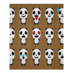 Panda Emoticon Shower Curtain 60  X 72  (medium)