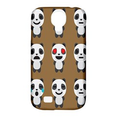 Panda Emoticon Samsung Galaxy S4 Classic Hardshell Case (pc+silicone) by AnjaniArt
