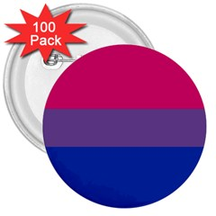Pink Purple Blue Flag 3  Buttons (100 Pack)  by AnjaniArt