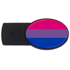 Pink Purple Blue Flag Usb Flash Drive Oval (4 Gb)  by AnjaniArt