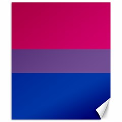 Pink Purple Blue Flag Canvas 8  X 10