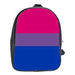 Pink Purple Blue Flag School Bags(large)