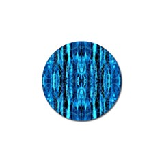 Bright Blue Turquoise  Black Pattern Golf Ball Marker (4 Pack) by Costasonlineshop