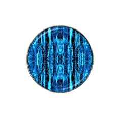 Bright Blue Turquoise  Black Pattern Hat Clip Ball Marker (10 Pack) by Costasonlineshop