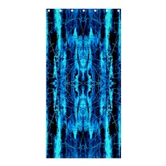 Bright Blue Turquoise  Black Pattern Shower Curtain 36  X 72  (stall)  by Costasonlineshop